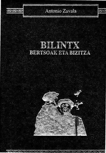 Bilintx, bertsoak eta bizitza - Euskaltzaindia