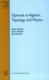 Operads in Algebra, Topology and Physics - Index of