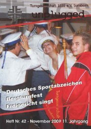 Vereinszeitschrift der Turngesellschaft 1888 e.V. Somborn ...
