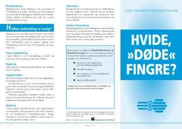 HVIDE, »DØDE« FINGRE? - Dansk Sklerodermi & Raynaud Forening