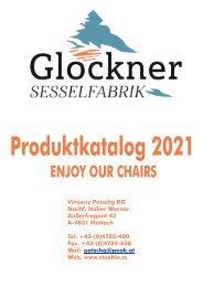 Produktkatalog Glockner Sesselfabrik 2021