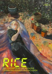 RICE · The Contemporary Art Magazine Celebrating Equality and Inclusion Vol. 2