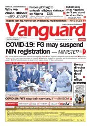 12012021 - COVID-19: FG may suspend NIN registration — MINISTER