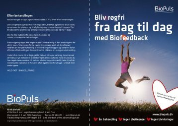 fra dag til dag - BioPuls rygestop behandling behandling