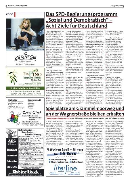 """""""Sozial und Demokratisch"""" – Acht Ziele für Deutschland"""