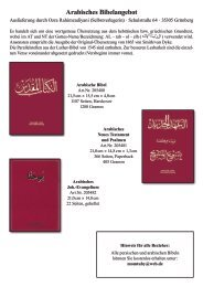 Arabisches und persisches Bibelangebot