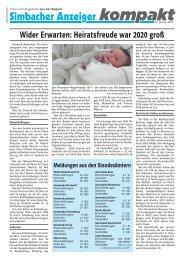 Simbacher Anzeiger 15.01.2021