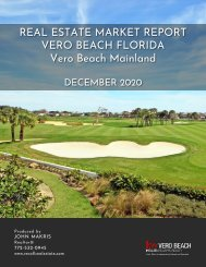 Vero Beach Mainland Real Estate Market Report December 2020
