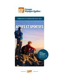 Actifs et sportifs - Forfaits accompagnés 2021-2022