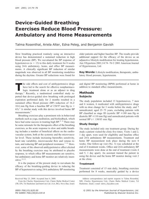 Device-Guided Breathing Exercises Reduce Blood Pressure ...