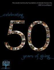 2009 Annual Report - Jewish Community Foundation