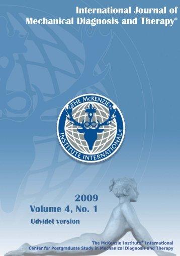 International Journal of Mechanical Diagnosis and ... - McKenzie