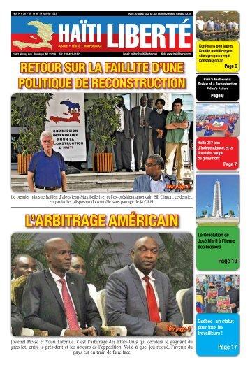 Haiti Liberte 13 Janvier 2021