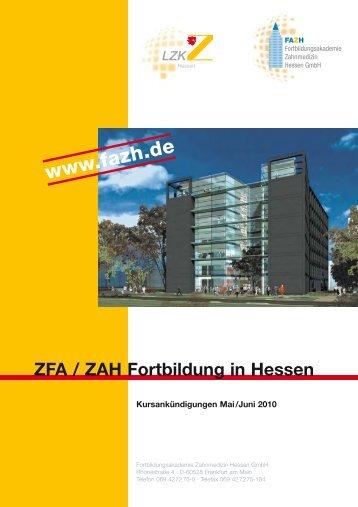 ZFA / ZAH Fortbildung in Hessen - FAZH