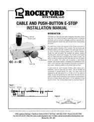 KSL-206 | Cable and Push Button E-Stop Installation Manual