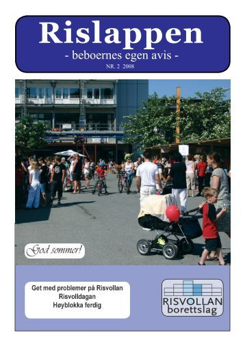 Rislappen 2008 nr. 2 - Risvollan Borettslag