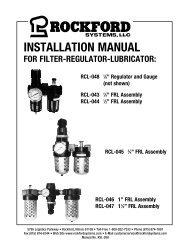 KSL-208   Installation Manual for Filter-Regulator-Lubricator