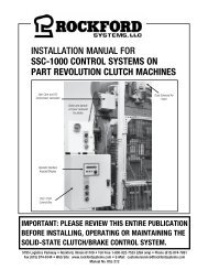 KSL-212 | Installation Manual for SSC-1000 Control Systems on Part Revolution Clutch Machines