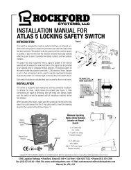 KSL-223 | Installation Manual for Atlas 5 Locking Safety Switch