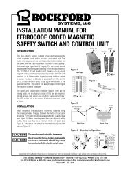 KSL-224 | Installation Manual for Ferrocode Coded Magnetic Safety Switch and Control Unit