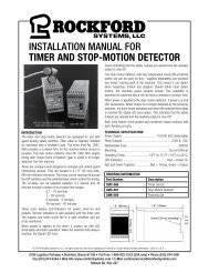KSL-227 | Installation Manual for Timer and Stop-Motion Detector