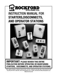 KSL-229 | Instruction Manual for Starters, Disconnects, and Operator Stations