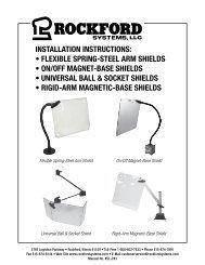 KSL-243 | Installation Instructions: Flexible Spring-Steel Arm Shields, On/Off Magnet-Base Shields, Universal Ball & Socket Shields, Rigid-Arm Magnetic-Base Shields