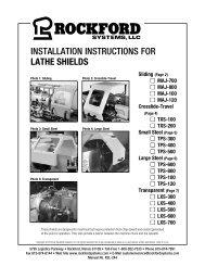 KSL-244   Installation Instructions for Lathe Shields