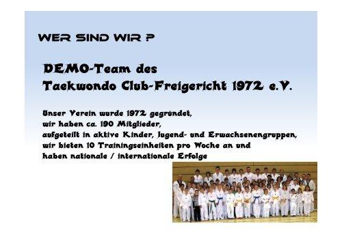 2010 Demo-Team Vorstellungx - TAEKWONDO-Freigericht