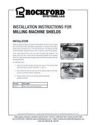 KSL-247   Installation Instructions for Milling Machine Shields