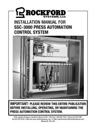 KSL-252 | Installation Manual for SSC-3000 Press Automation Control System