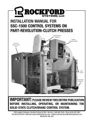 KSL-253 | Installation Manual for SSC-1500 Control Systems on Part-Revolution-Clutch Presses