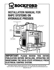 KSL-279 | Installation Manual for RHPC Systems on Hydraulic Presses