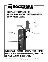 KSL-280   Installation Manual for Adjustable Stroke Detect-A-Finger Drop-Probe Device