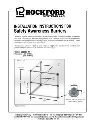 KSL-287 | Installation Instructions for Safety Awareness Barriers