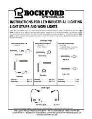 KSL-289   Instructions for LED Industrial Lighting Light Strips and Work Lights