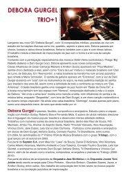 Release Debora Gurgel Trio+1 - Dani Gurgel