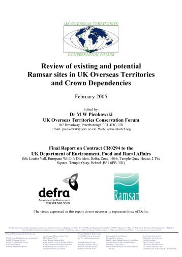 Review of existing and potential Ramsar sites in UK ... - JNCC - Defra