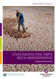Utviklingspolitikk i møte med klimaendringene ... - Kirkens Nødhjelp
