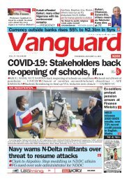 14012021 - COVID-19: Stakeholders back re-opening of schools, if...