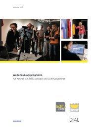Weiterbildungsbroschüre DIAL | licht+concept Lichthauspartner