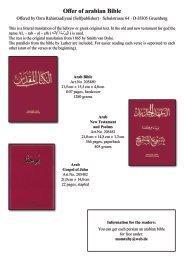 Offer of arabian and persian (farsi) Bible