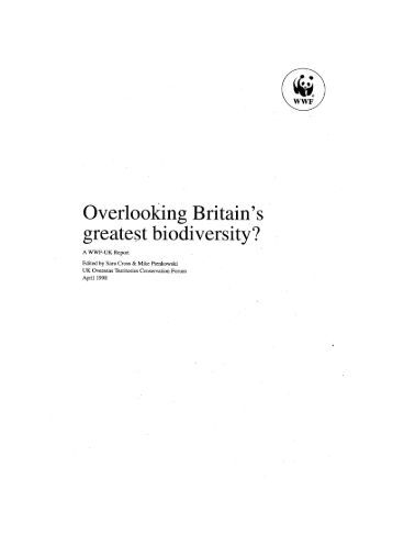 The Convention on Biological Diversity and the UK - UKOTCF