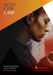 Future-proofing your law firm -  Advanced Supplement