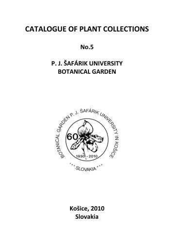 CATALOGUE OF PLANT COLLECTIONS