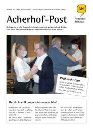 Acherhof-Post Nr. 22   15. Januar 2021