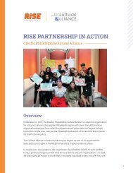 RISE PARTNERSHIP IN ACTION: Greater Philadelphia Cultural Alliance