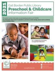 2021Preschool & Childcare Information Packet_Final