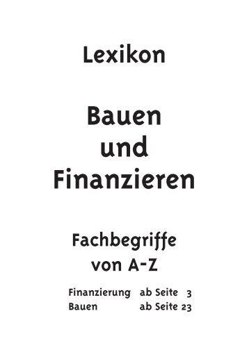 Bauen und Finanzieren - Fachbegriffe von A-Z - Der Bauherr