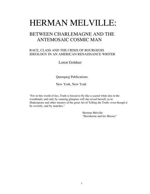 Qu/ête de Melville La